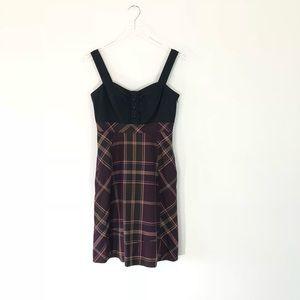 Cute Anthropologie Maeve Plaid Dress Size 4